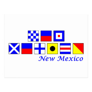 New Mexico spelled in nautical flag alphabet Post Cards