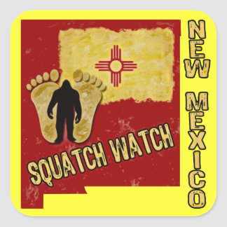 New Mexico Squatch Watch Square Sticker
