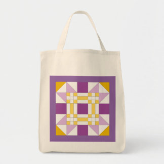 New Mexico Star Quilt Pattern Grocery Tote