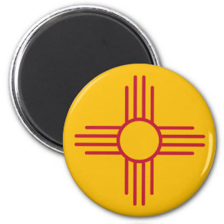 New Mexico State Flag 2 Inch Round Magnet