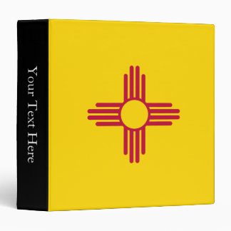 New Mexico State Flag 3 Ring Binder
