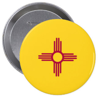 New Mexico State Flag 4 Inch Round Button