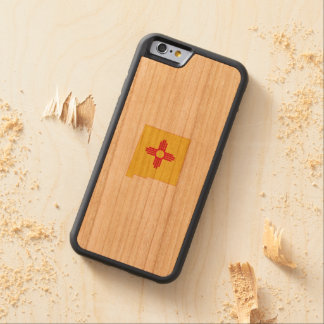 New Mexico State Flag and Map Carved® Cherry iPhone 6 Bumper