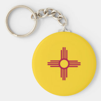 New Mexico State Flag Basic Round Button Keychain