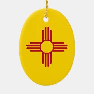 New Mexico State Flag Ceramic Ornament