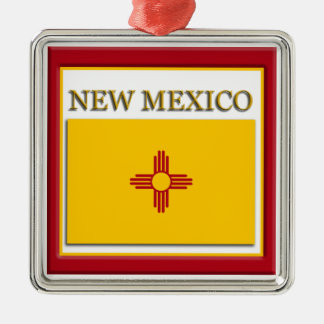New Mexico State Flag Christmas Ornament