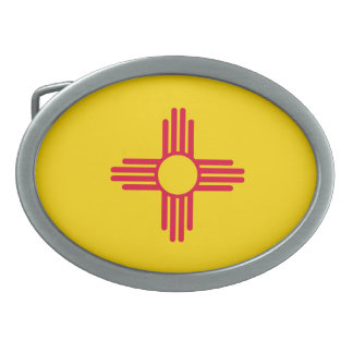 New Mexico State Flag Design Belt Buckle