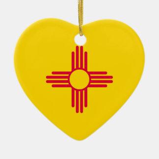 New Mexico State Flag Design Ceramic Ornament
