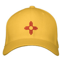 New Mexico State Flag Design Embroidered Baseball Hat