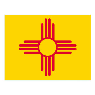 New Mexico State Flag Design Postcard