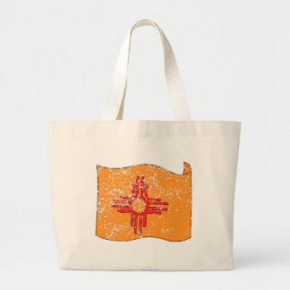 New Mexico State Flag (Distressed) Jumbo Tote Bag