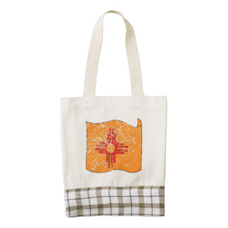 New Mexico State Flag (Distressed) Zazzle HEART Tote Bag