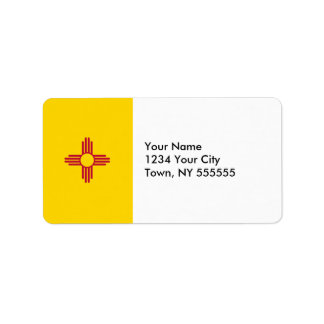 New Mexico State Flag Label