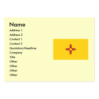 New Mexico State Flag Large Business Card