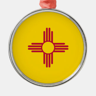 New Mexico State Flag Metal Ornament