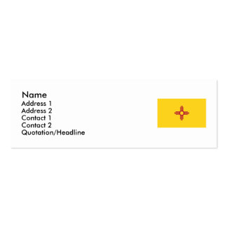New Mexico State Flag Mini Business Card