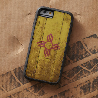 New Mexico State Flag on Old Wood Grain Tough Xtreme iPhone 6 Case
