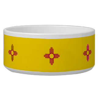 New Mexico State Flag Pet Bowl