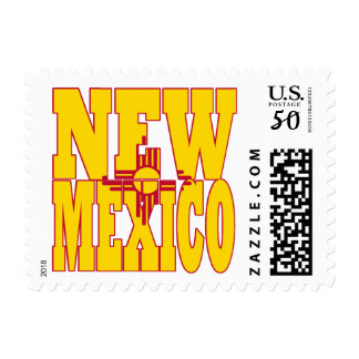 New Mexico state flag text Postage