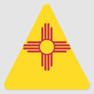 New Mexico State Flag Triangle Sticker