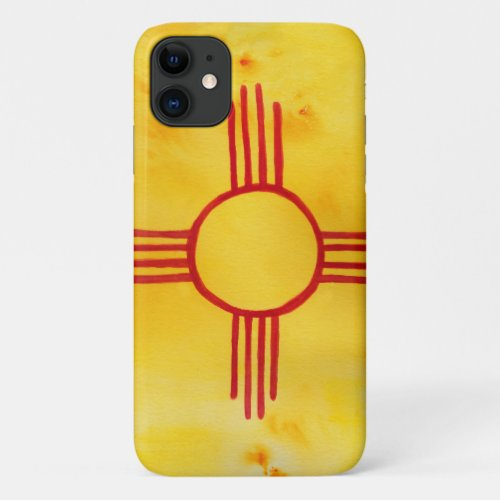 New Mexico State Flag Watercolor CUSTOMIZE IT iPhone 11 Case