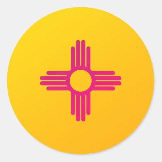 New Mexico State Flag Zia Sun Classic Round Sticker