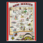 "New Mexico State  Map Postcard<br><div class=""desc"">New Mexico State  Map</div>"