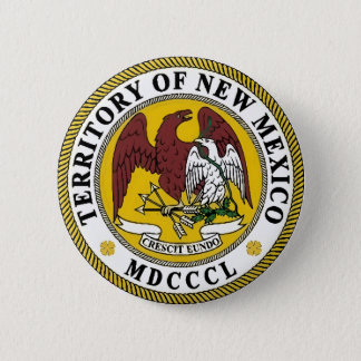 New Mexico State Seal Pinback Button