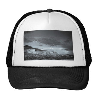 New Mexico Storm Black White Mesh Hat