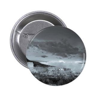 New Mexico Storm Black White Pinback Button