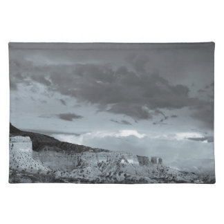 New Mexico Storm Black White Placemat