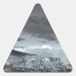 New Mexico Storm Black White Triangle Sticker