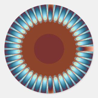 New Mexico Sunburst1 Classic Round Sticker