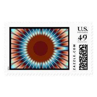 New Mexico Sunburst Stamp