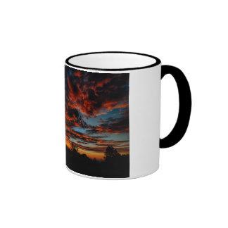 New Mexico Sunset #1 Ringer Coffee Mug