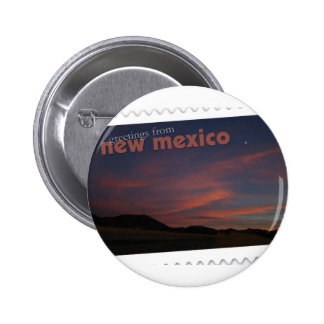 New Mexico sunset Button