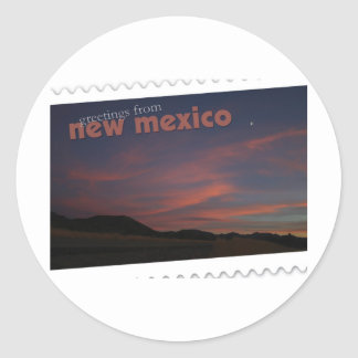 New Mexico sunset Classic Round Sticker