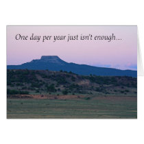 New Mexico Sunset Landscape photo Father's Day Card