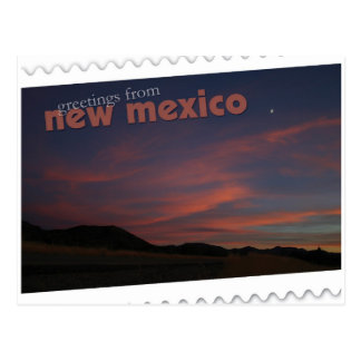 New Mexico sunset Postcard