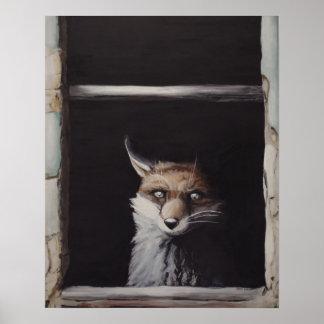 New México - surrealismo del estallido del Fox Póster