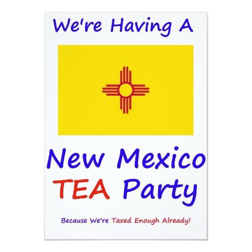 """NEW MÉXICO T.E.A. PARTY INVITATIONS INVITACIÓN 5"""" X 7"""""""