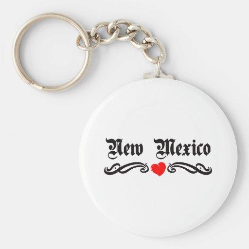 New Mexico Tattoo Keychains