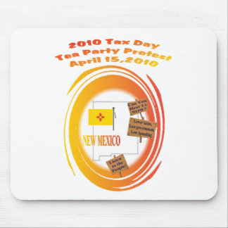 New Mexico Tax Day Tea Party Protest Mouse Pad