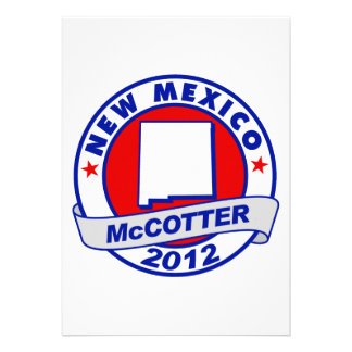 New Mexico Thad McCotter Custom Announcements
