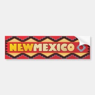 New México - tierra del encantamiento Etiqueta De Parachoque