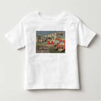 New Mexico - U.S. Highway 70 - Large Letter Toddler T-shirt