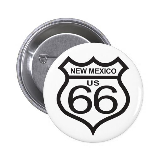 New Mexico US Route 66 2 Inch Round Button