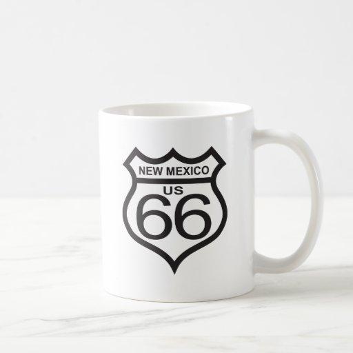 New Mexico US Route 66 Classic White Coffee Mug
