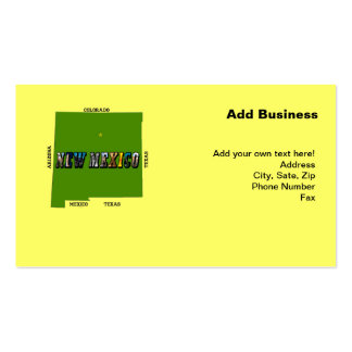 New Mexico, USA Business Cards Pack Of Standard Business Cards