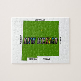 New Mexico, USA Puzzle with Tin